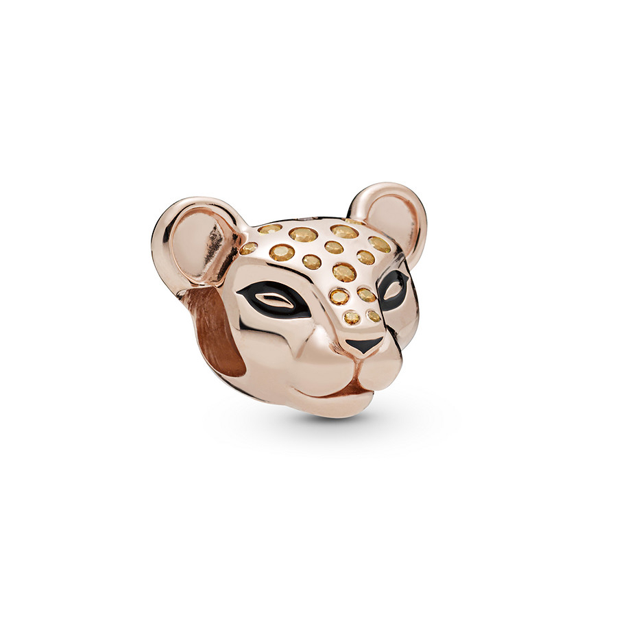 Pandora Rose Sparkling Lioness Charm Regarding 2020 Sparkling Lioness Heart Pendant Necklaces (View 6 of 25)