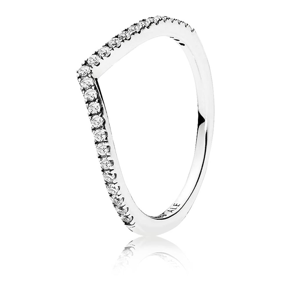 Pandora Shimmering Wishbone Ring For Best And Newest Beaded Wishbone Rings (View 9 of 25)