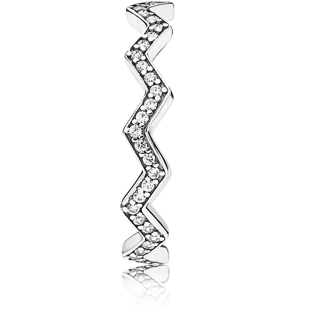 Pandora Shimmering Zig Zag Ring 197751Cz With Regard To Most Up To Date Shimmering Zigzag Rings (View 13 of 25)