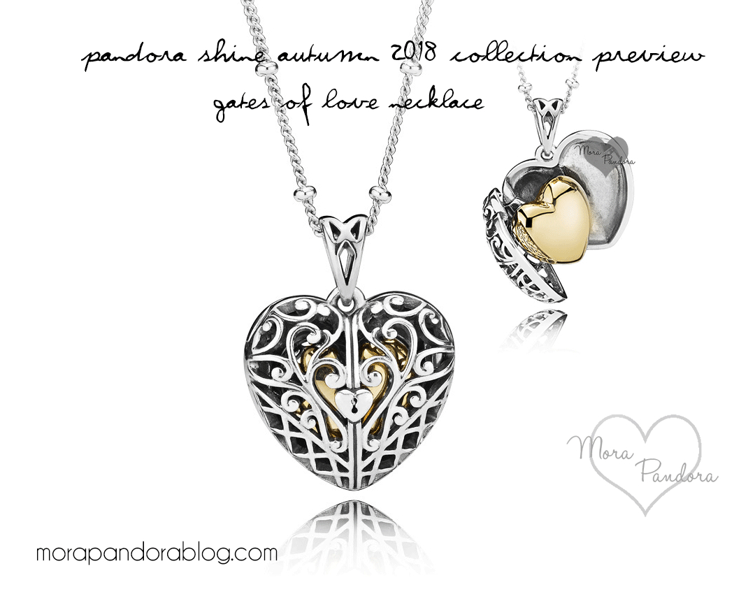 Pandora Shine Autumn 2018 Collection Preview | Mora Pandora With Current Gate Of Love Necklaces (View 3 of 25)