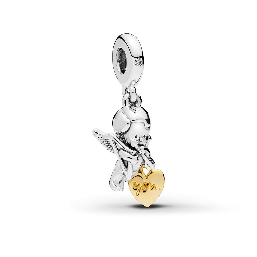 Pandora Shine Charm Cupid & You Within Most Recent Arrow Of Cupid Dangle Charm Necklaces (View 16 of 25)