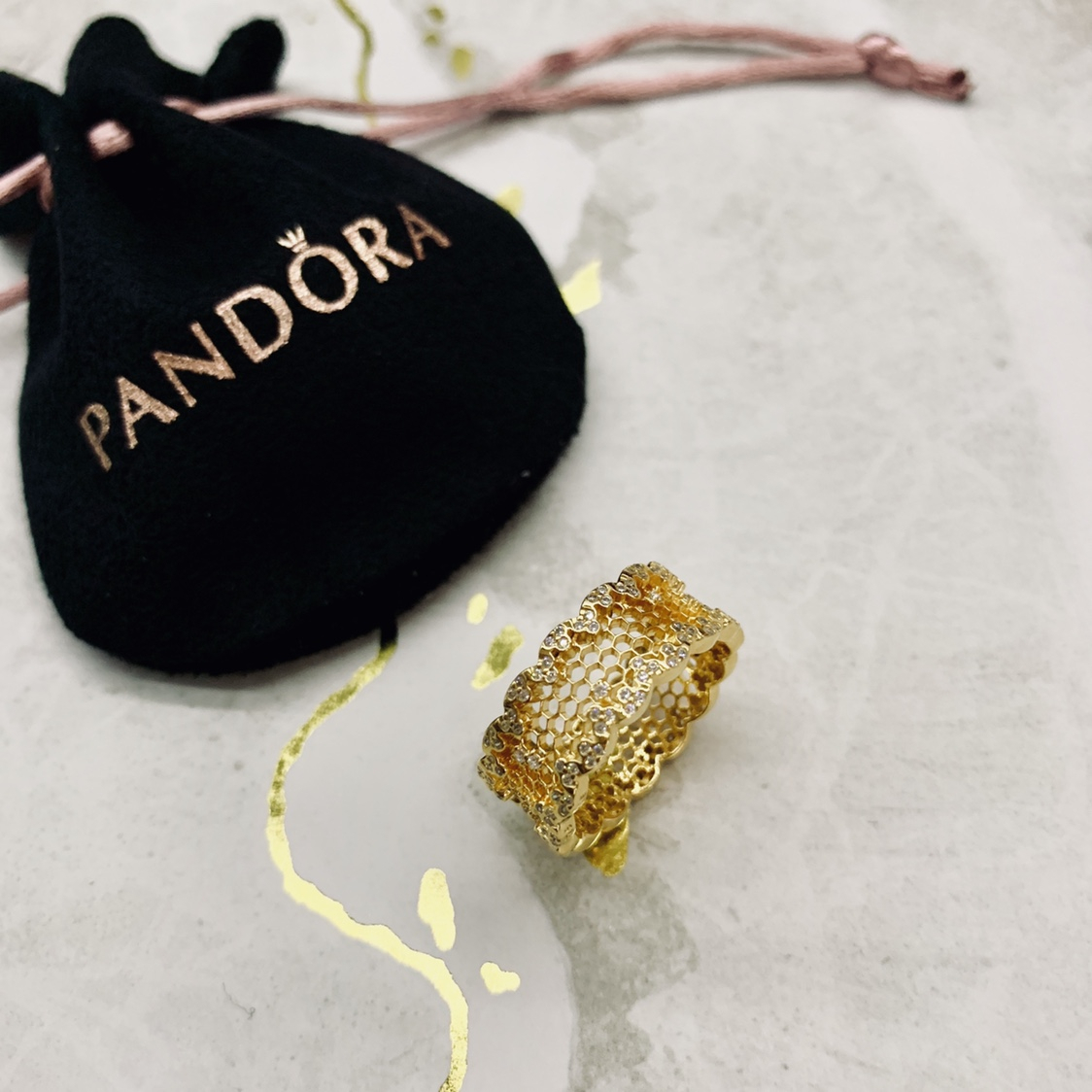 Pandora Shine Honeycomb Lace Ring: Size 56 (18ct – Depop With Regard To Newest Honeycomb Lace Rings (View 12 of 25)