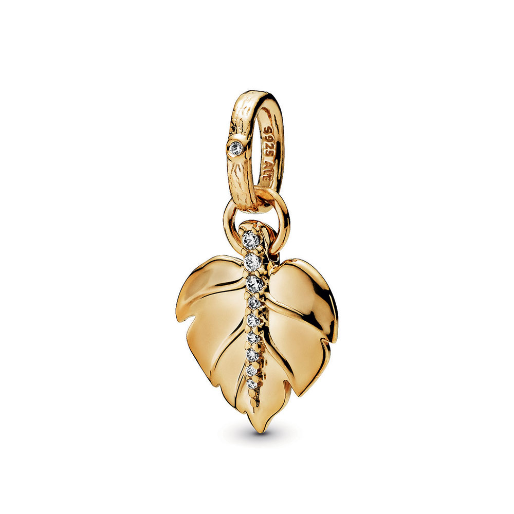 Pandora Shine™ Pandora Wonderland Shining Leaf Cz Pendant In Best And Newest Shining Leaf Pendant Necklaces (Gallery 11 of 25)