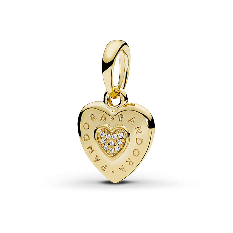 Pandora Shine Pendant Pandora Signature Heart With Regard To 2019 Heart Honeycomb Lace Pendant Necklaces (View 18 of 25)