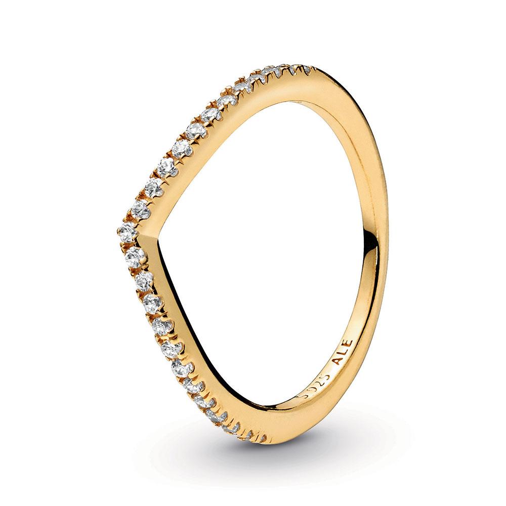 Pandora Shine™ Sparkling Wishbone Cz Ring Within Current Sparkling Wishbone Rings (View 3 of 25)