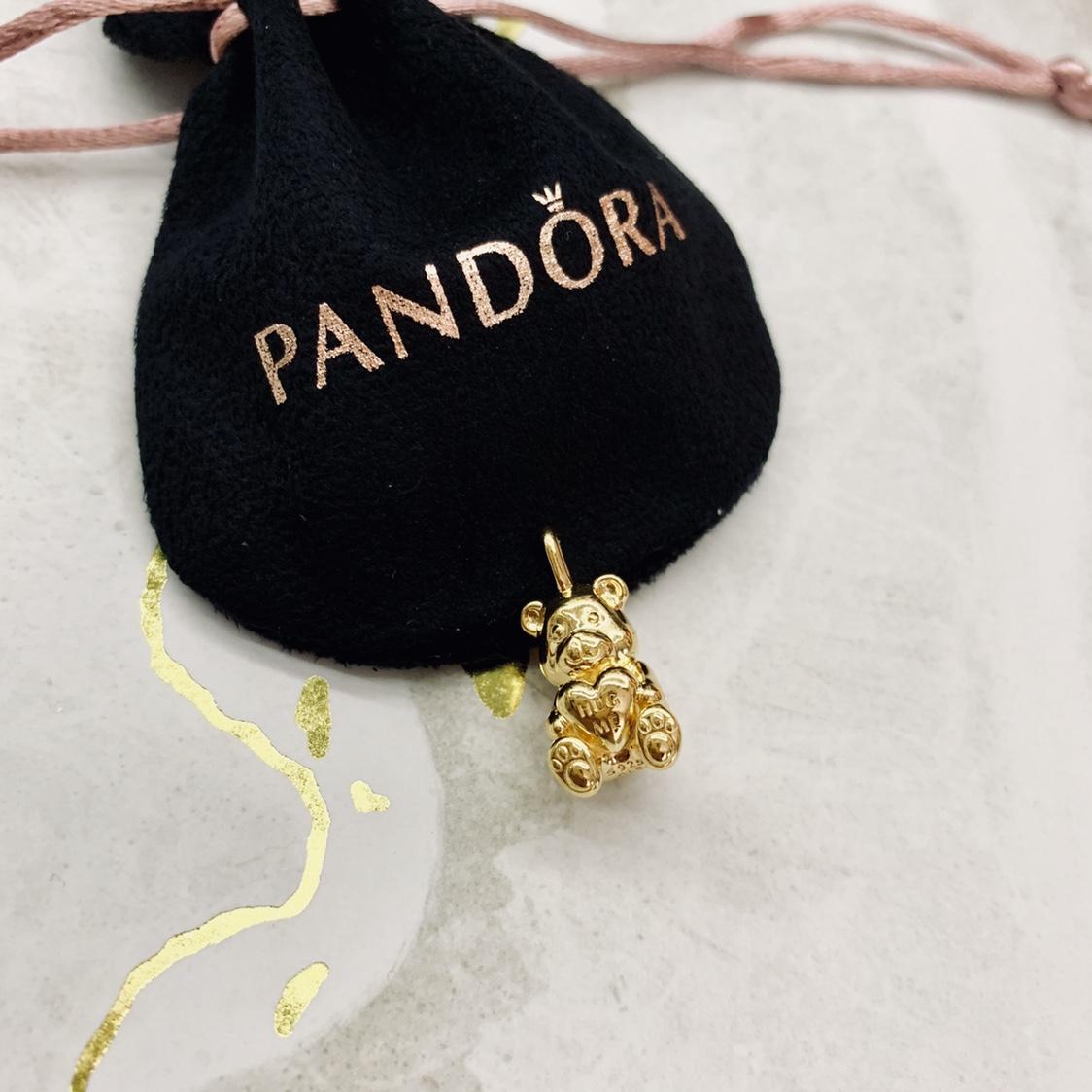 Pandora Shine Theodore Bear Pendant (not For A – Depop For 2019 Theodore Bear Pendant Necklaces (View 2 of 25)