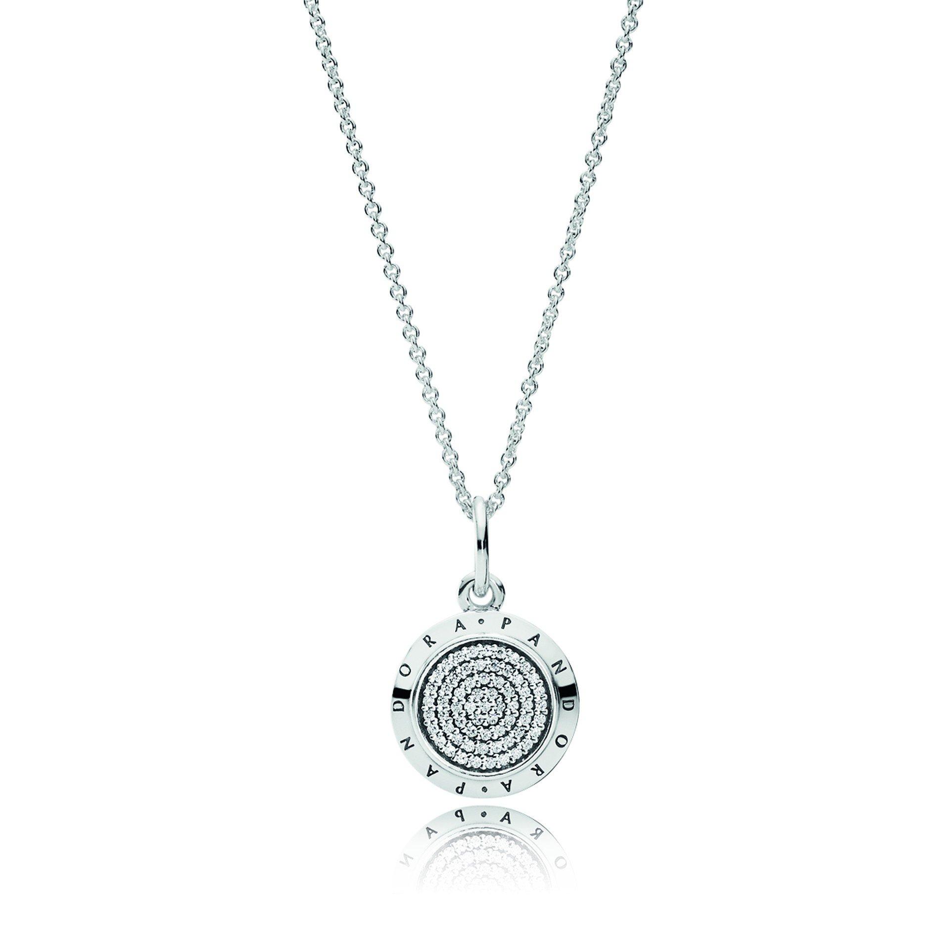 Featured Photo of Pandora Logo Pavé Pendant Necklaces