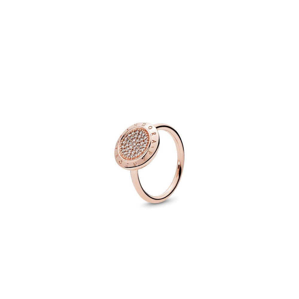 Pandora Signature Ring, Pandora Rose™ & Clear Cz – My Charm Style Regarding Most Recent Entwined Circles Pandora Logo & Sparkle Rings (View 15 of 25)