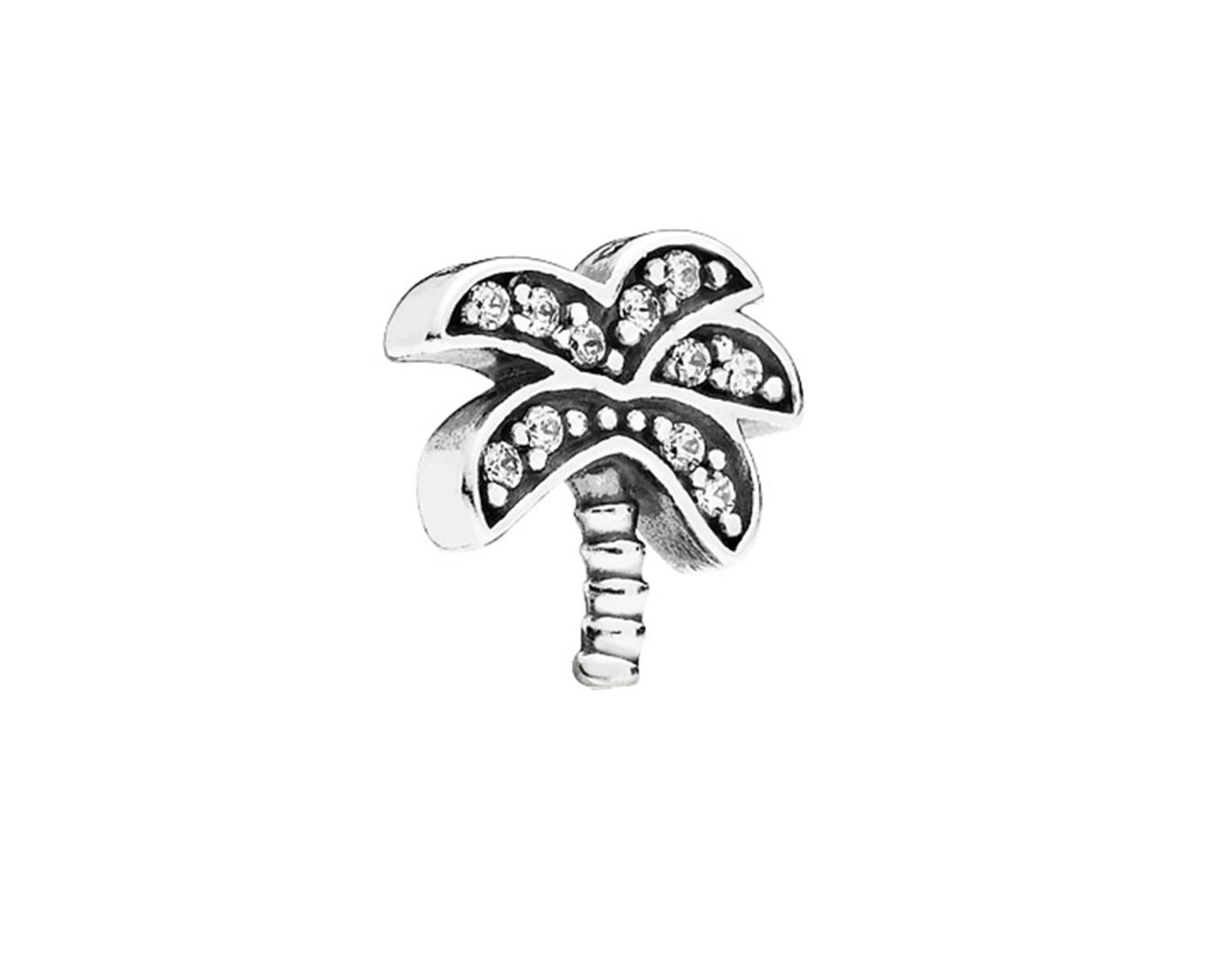 Pandora Silver & Cz Palm Tree Petite Element Charm – Save 44% – Lyst For 2019 Twinkling Christmas Tree Locket Element Necklaces (View 12 of 25)