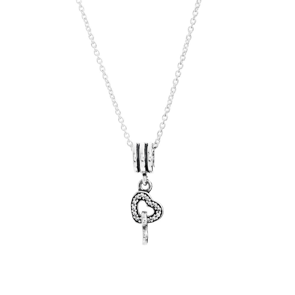 Pandora Silver Intertwined Hearts Pendant Cn028 In Newest Hearts Of Pandora Necklaces (View 21 of 25)