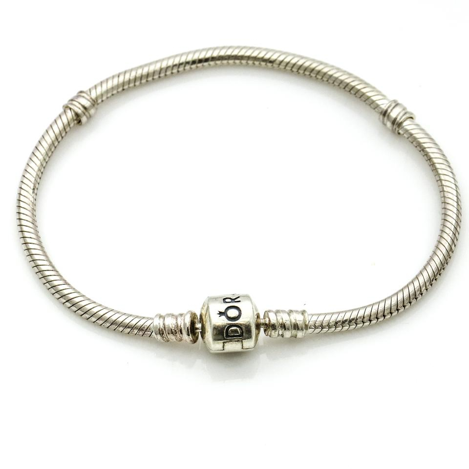 Pandora Silver Sterling Moments Snake Chain 590702Hv 18 Bracelet Intended For Newest Pandora Moments Snake Chain Necklaces (View 20 of 25)