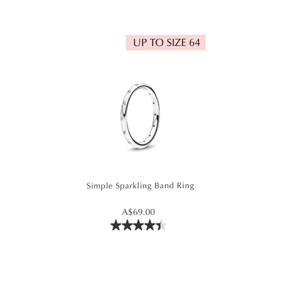 Pandora Simple Sparkling Band Ring In Great – Depop Intended For Most Recently Released Simple Sparkling Band Rings (View 3 of 25)