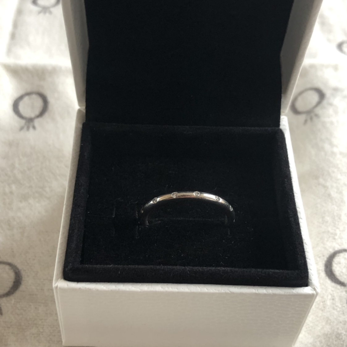 Pandora Simple Sparkling Band Ring Sterling Silver, – Depop For Most Up To Date Simple Sparkling Band Rings (View 12 of 25)