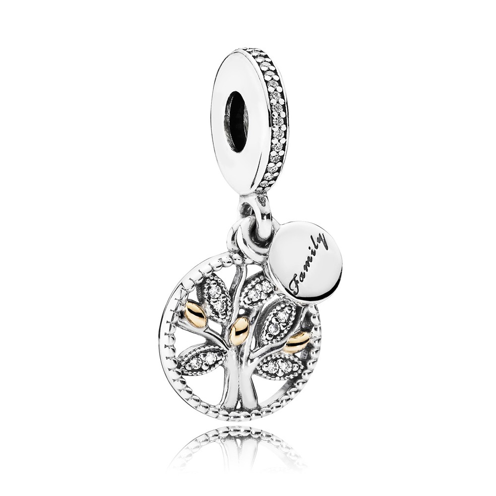 Pandora Sparkling Family Tree Pendant Charm 791728Cz For Most Recent Sparkling Family Tree Necklaces (View 15 of 25)