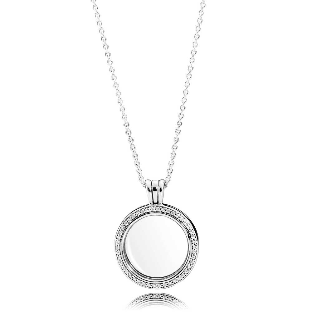 Pandora Sparkling Floating Locket Necklace 396484cz 60 Regarding Most Recent Pandora Logo Circle Necklaces (View 6 of 25)
