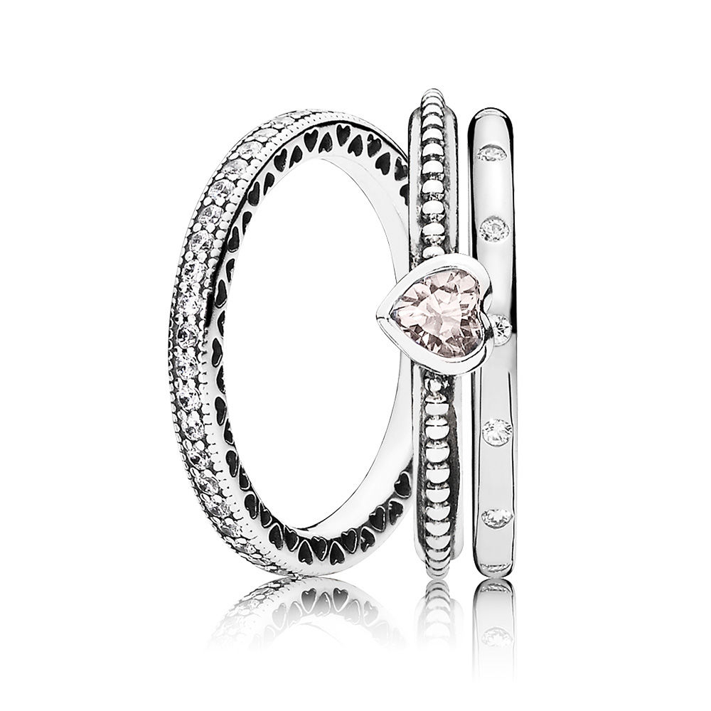 Pandora Sparkling Hearts Ring Stack Black Friday For 2018 Two Sparkling Hearts Rings (View 4 of 25)