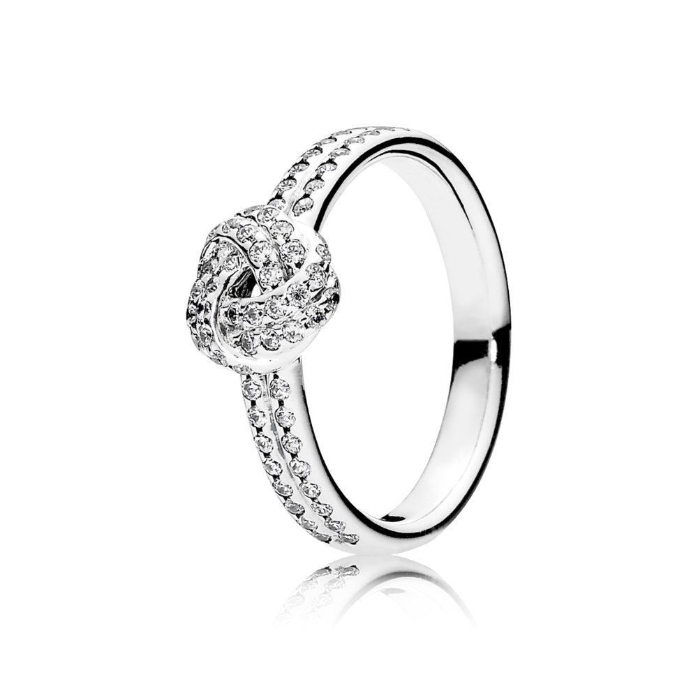 Pandora Sparkling Love Knot Ring | Argento Within Most Recent Shimmering Knot Rings (View 9 of 25)
