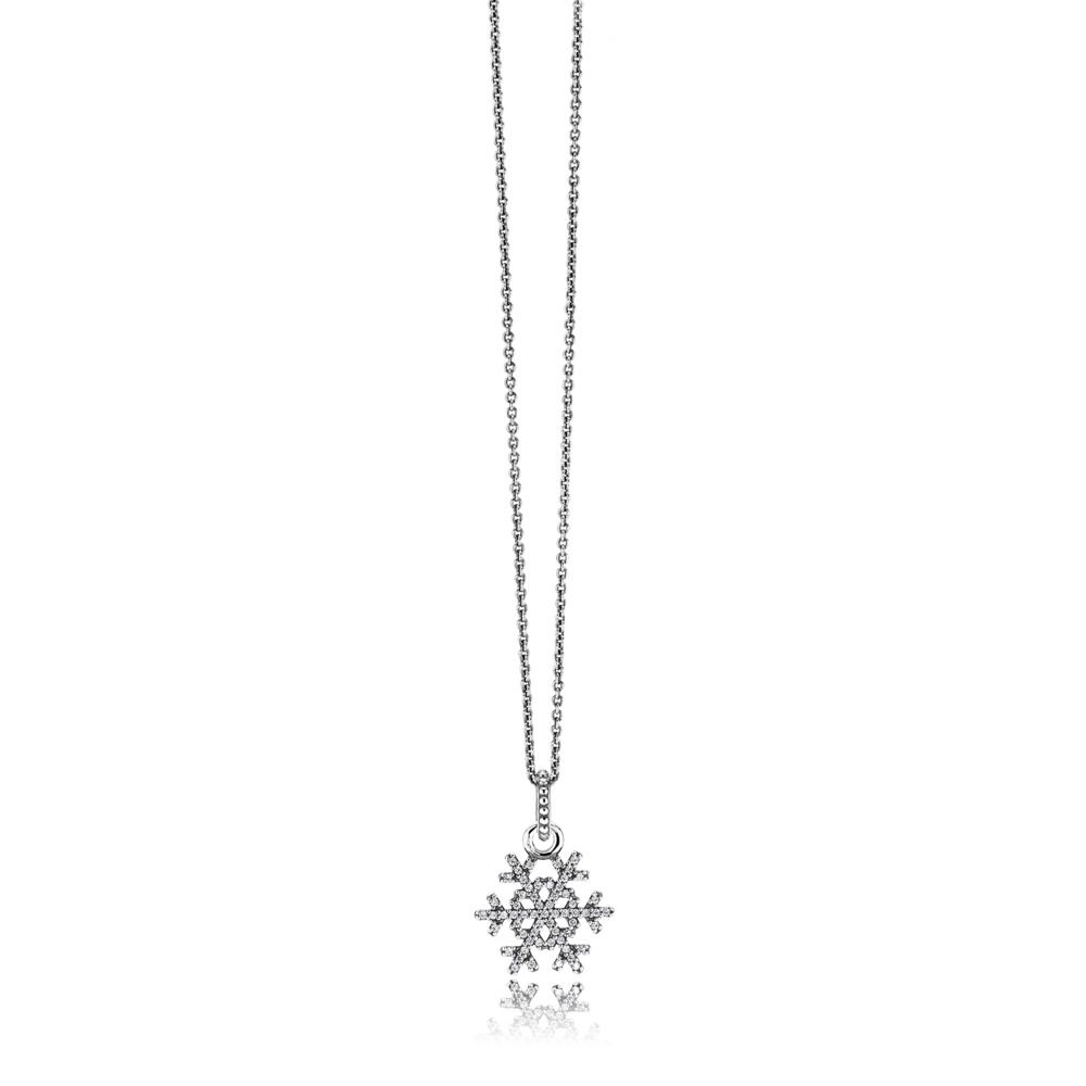 Pandora Sparkling Snowflake Silver Necklace Pendant – Pandora 39 Within Current Sparkling Bow Necklaces (View 15 of 25)