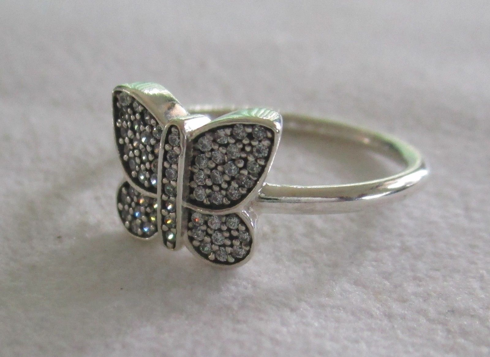 Pandora Sterling Silver Rings – Sparkling Butterfly Ring 190938cz Inside Most Recent Sparkling Butterfly Open Rings (Gallery 14 of 25)