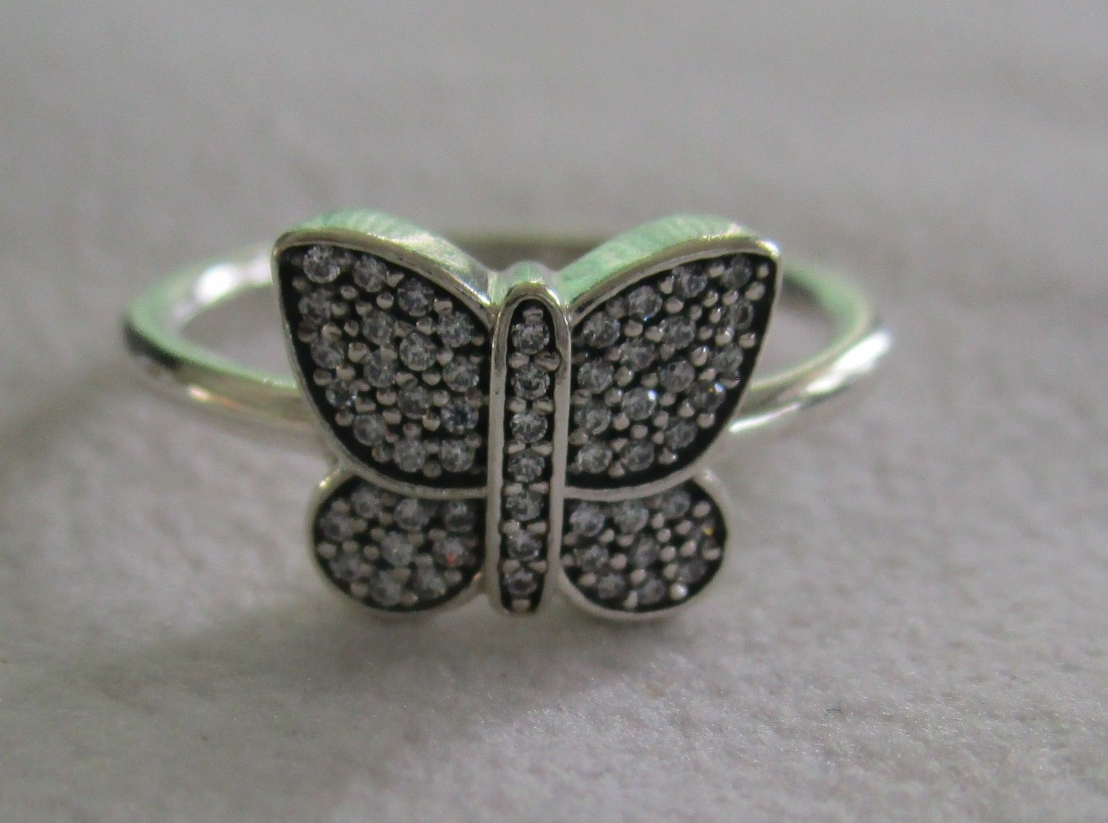 Pandora Sterling Silver Rings – Sparkling Butterfly Ring 190938Cz With Latest Sparkling Butterfly Open Rings (Gallery 19 of 25)