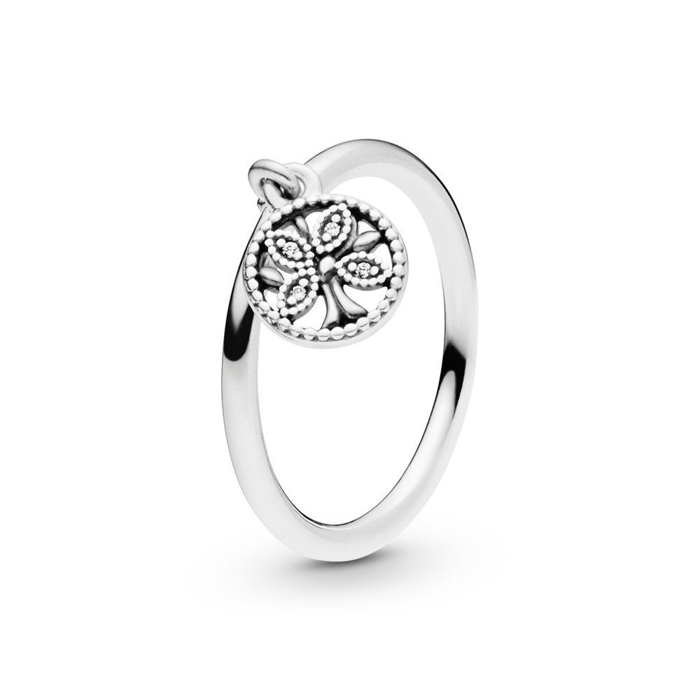 Pandora Tree Of Life Ring | Family Jewelry | Pandora Us In Best And Newest Dangling Family Tree Rings (View 1 of 25)