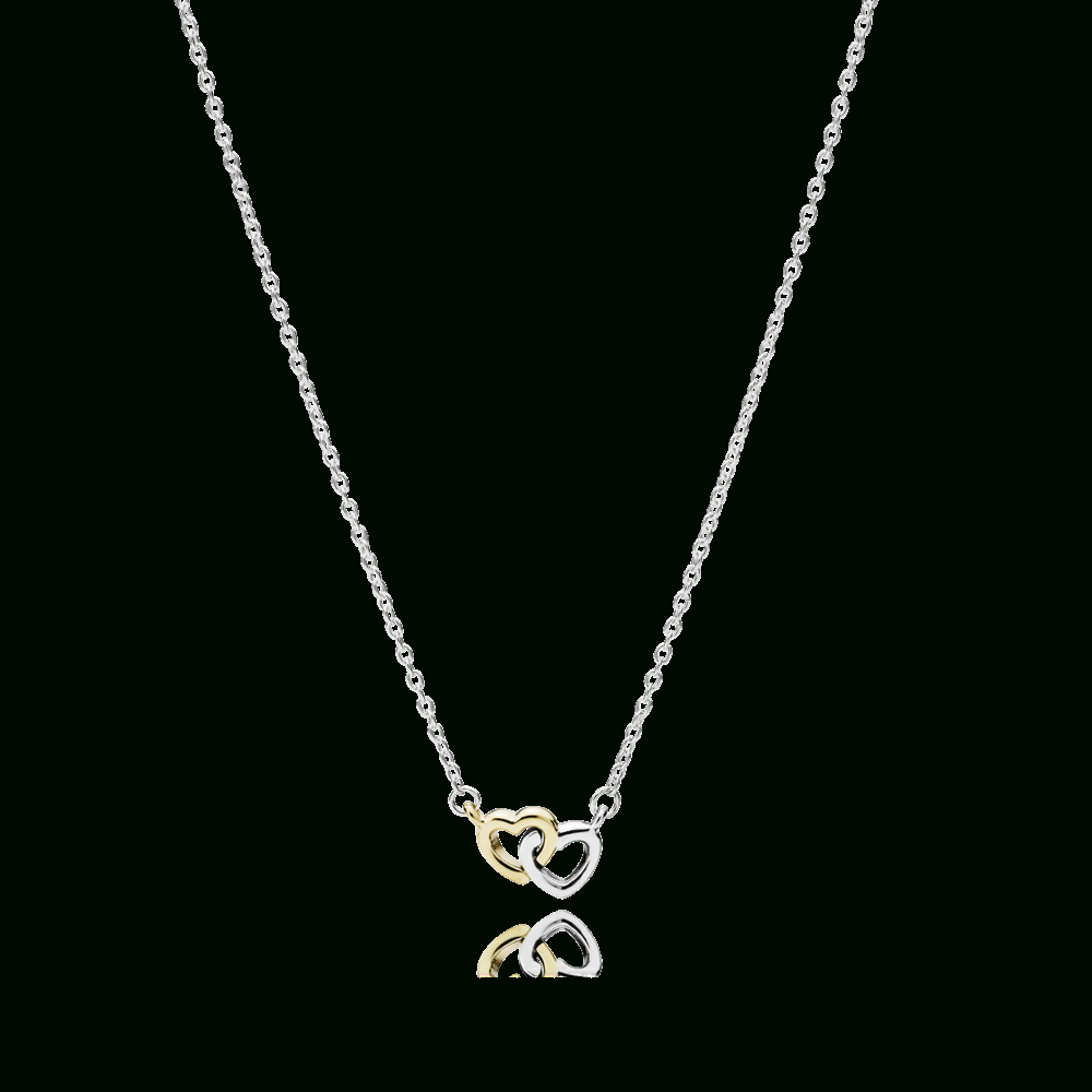 Pandora | United In Love | Jewwrreyjust Kiddinjewelry In 2019 Pertaining To Most Popular Interlocked Hearts Collier Necklaces (View 14 of 25)