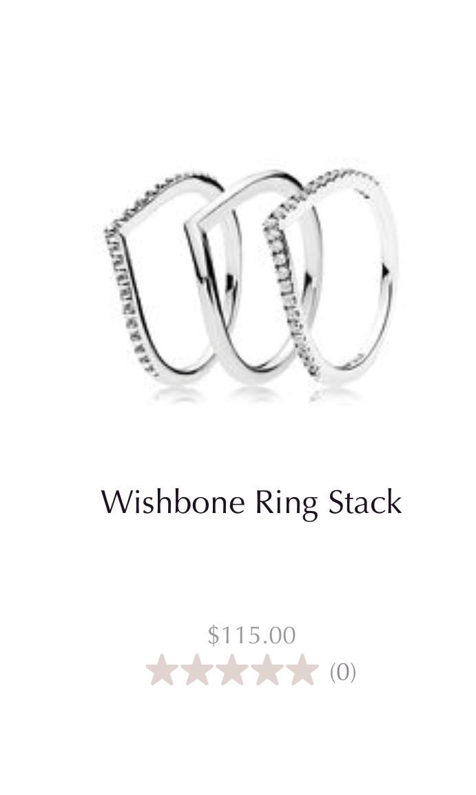 Pandora Wishbone Ring Stack | Wishlist In 2019 | Pandora Rings Pertaining To Best And Newest Beaded Wishbone Rings (View 4 of 25)