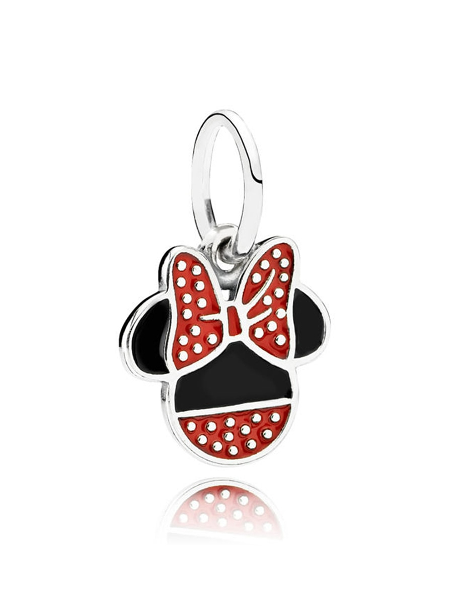 Pandora Women's Pendant Disney Minnie Portrait Red Polka Dot 925 Silver  Cartoon Pendant 791460Enmx With Current Disney Minnie'S Polka Dots Pendant Necklaces (View 25 of 25)