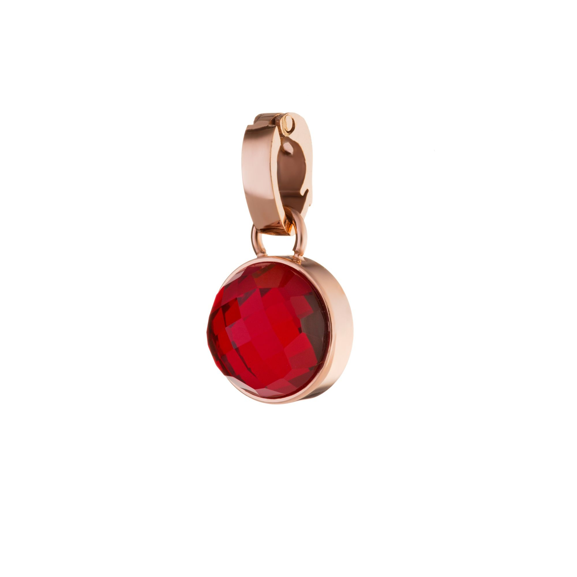 Passion Dainty Signature Pendant Rose Gold, Red Glass Regarding 2019 Garnet Red January Birthstone Locket Element Necklaces (View 4 of 25)