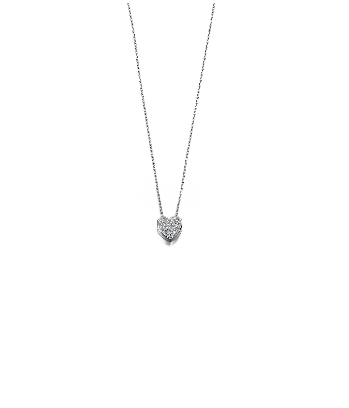 Pave Heart Necklace – Fab Fox Jewellery In Best And Newest Pavé Locket Element Necklaces (View 15 of 25)