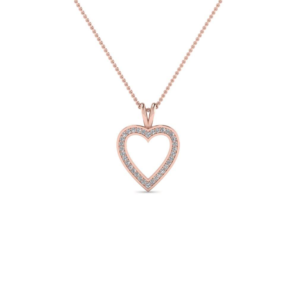 Pave Open Heart Diamond Pendant Regarding Recent Open Heart Necklaces (Gallery 20 of 25)