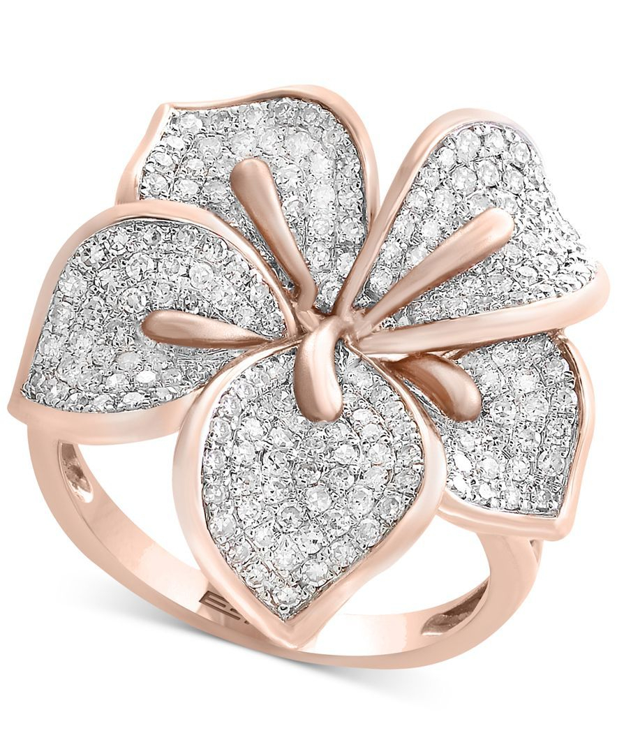 Featured Photo of Pavé Flower Rings