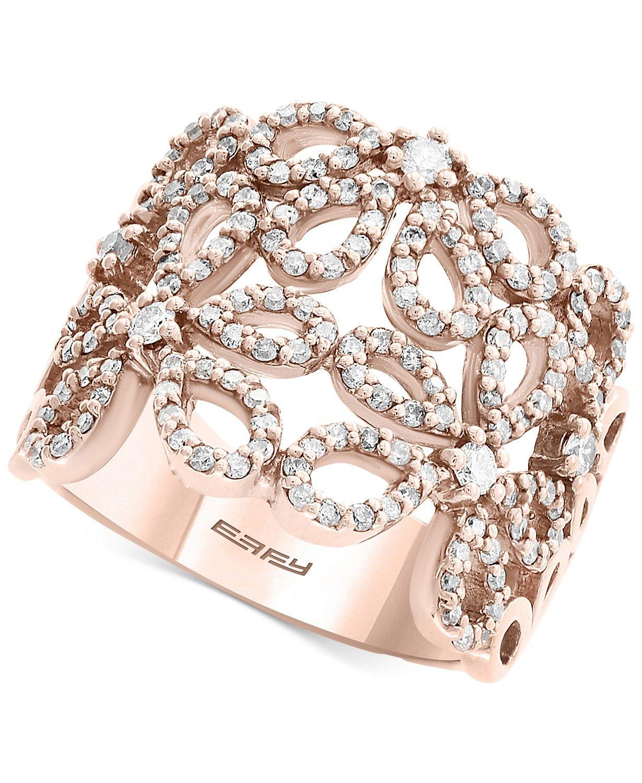 Pavé Roseeffy® Diamond Openwork Flower Ring (7/8 Ct. T.w (View 5 of 25)