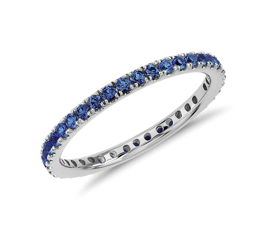 Pavé Sapphire Eternity Ring Inside Newest Elegant Pavé Band Rings (View 21 of 25)