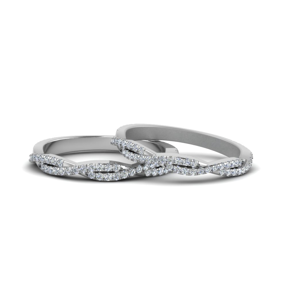 Pave Twisted Diamond Lesbian Band Inside Most Up To Date Enhanced Black And White Diamond Vintage Style Anniversary Bands In Sterling Silver (View 11 of 25)