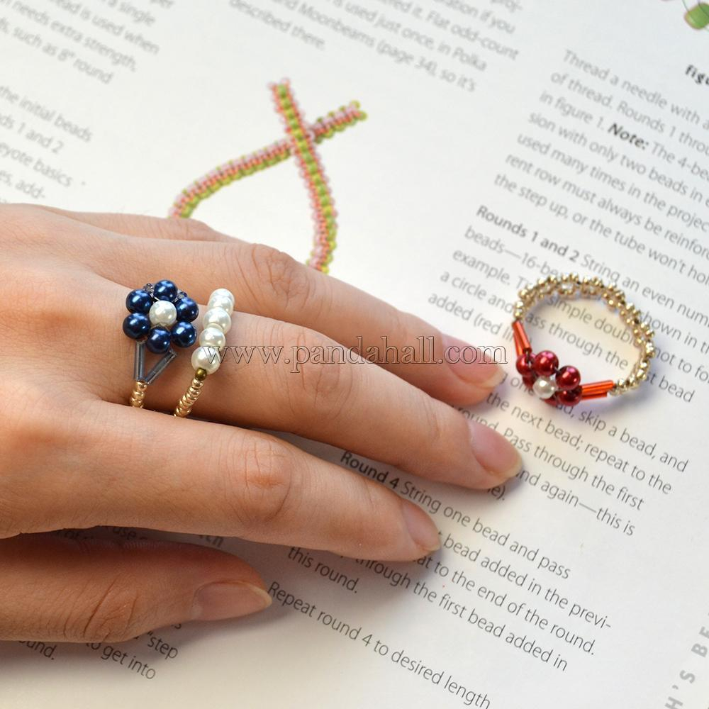 Pearl Bead Flower Rings | Pandahall Inspiration Projects With Most Up To Date Strings Of Beads Rings (Gallery 4 of 25)