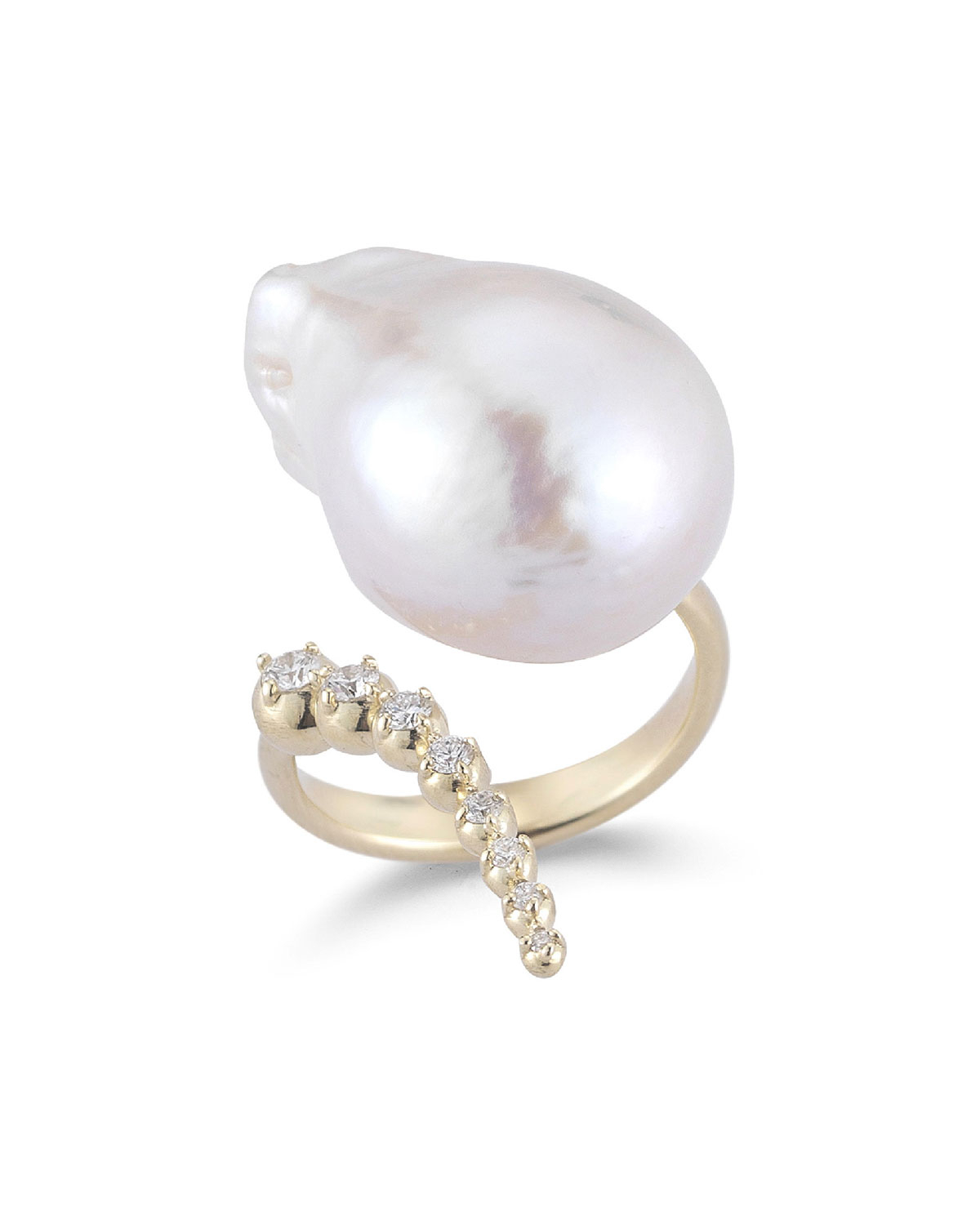 Pearl Ring Jewelry | Neiman Marcus Within Latest Bead & Freshwater Cultured Pearl Open Rings (View 17 of 25)