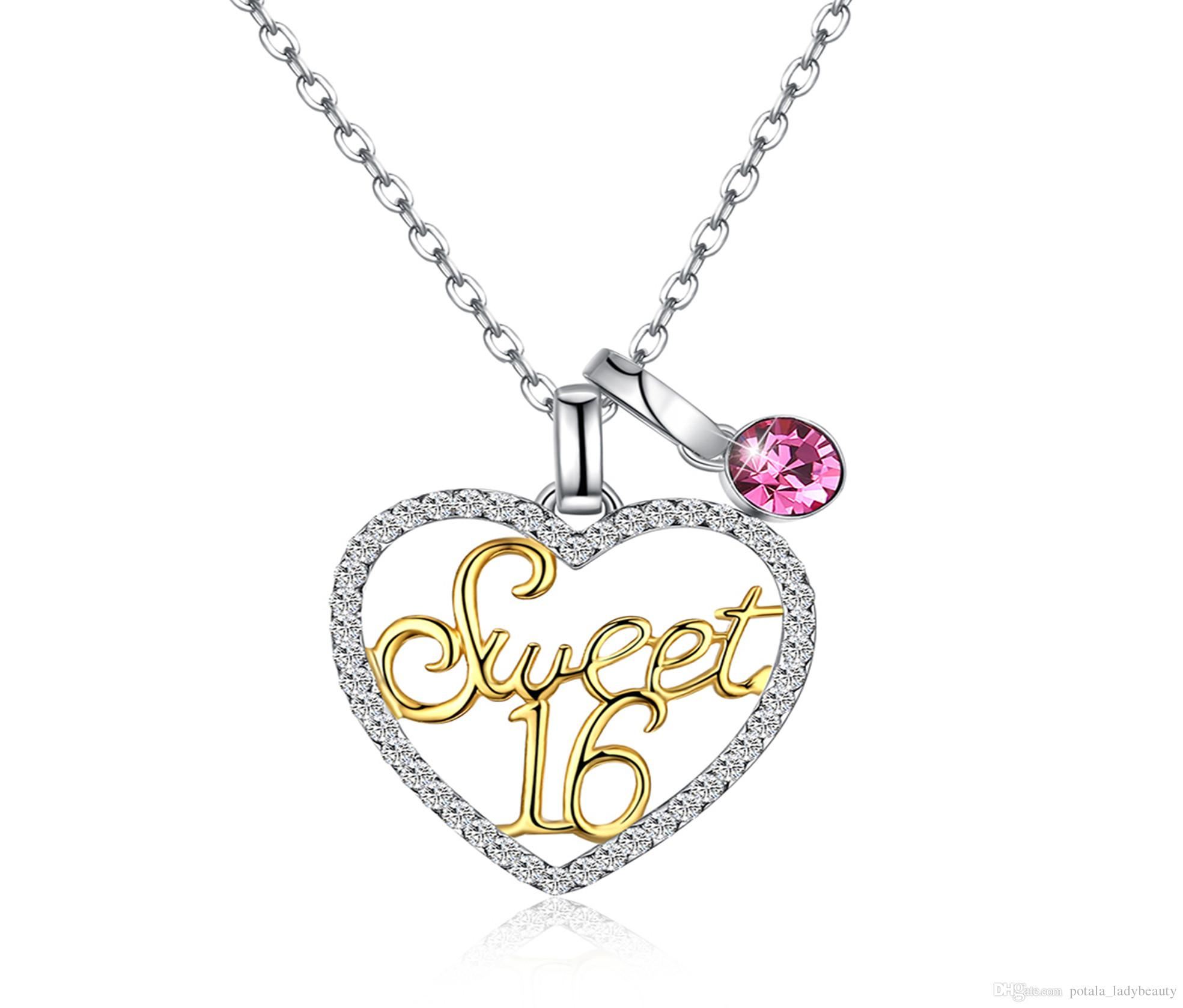 Pendant Necklaces Crystal From Swarovski Element S925 Sterling Silver  Variety Of Wearing Heart Shaped Sweet 16 Birthday Party Gift Potala316 Intended For Most Current Sparkling Infinity Locket Element Necklaces (Gallery 19 of 25)