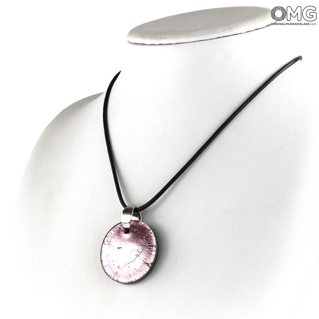 Pendant – Purple Silver – Orignal Murano Glass Omg Throughout Recent Pink Murano Glass Leaf Pendant Necklaces (Gallery 5 of 25)