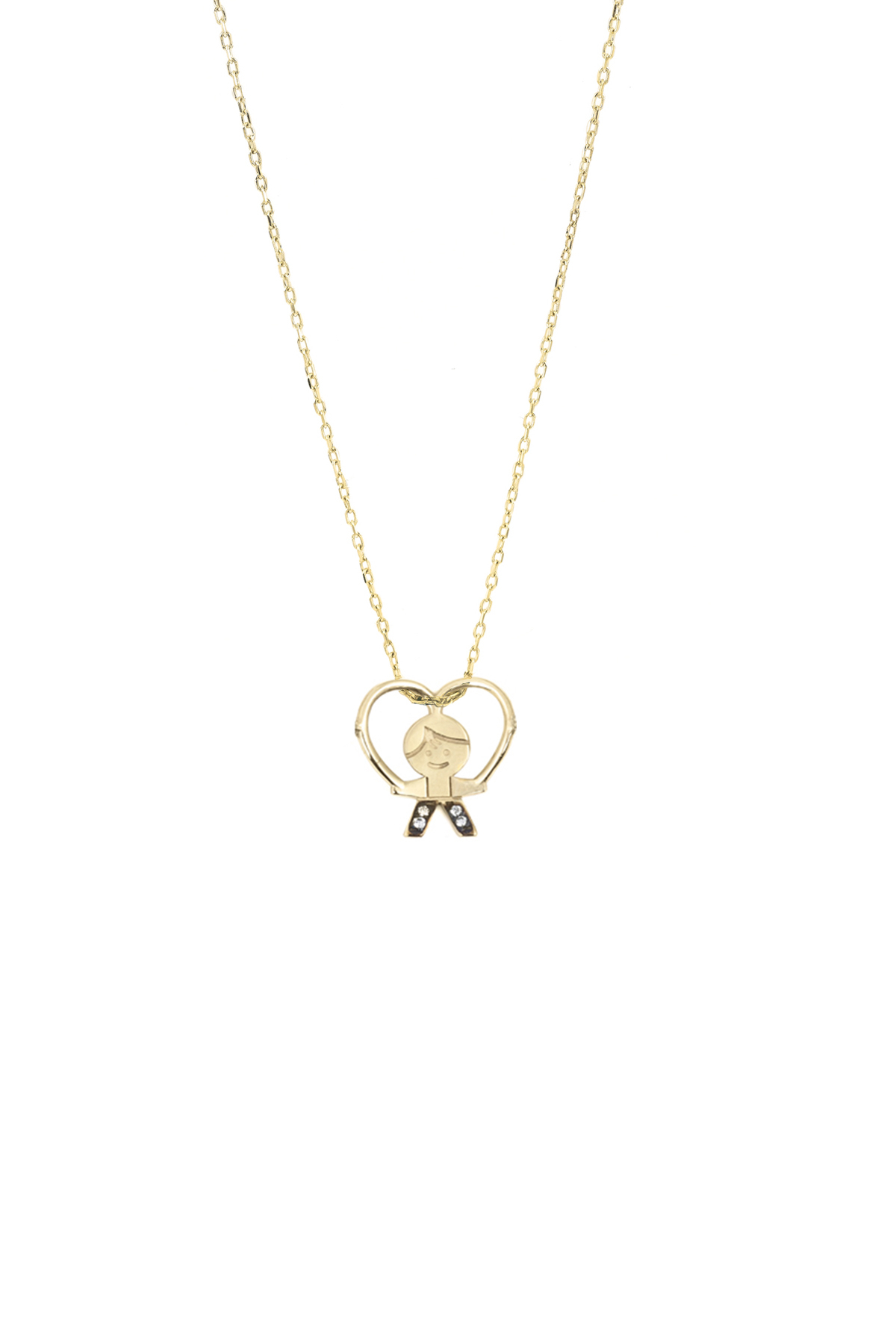 Pepe In Love – Boy Heart Necklace – Charm Necklace | App In Current Love & Family Petite Locket Charms Necklaces (View 20 of 25)