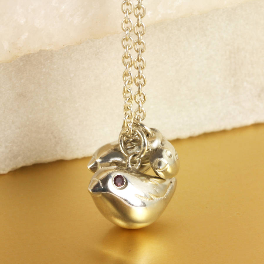 Personalised Bird Family Necklace Intended For Most Recently Released Family Script Locket Element Necklaces (View 10 of 25)