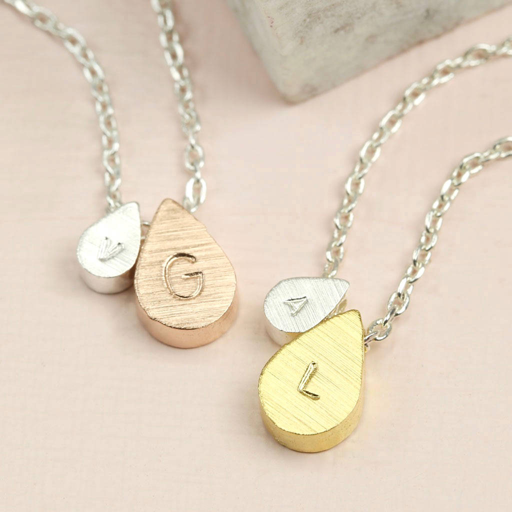 Personalised Mother And Baby Droplet Necklace Throughout Most Up To Date November Droplet Pendant Necklaces (Gallery 21 of 25)
