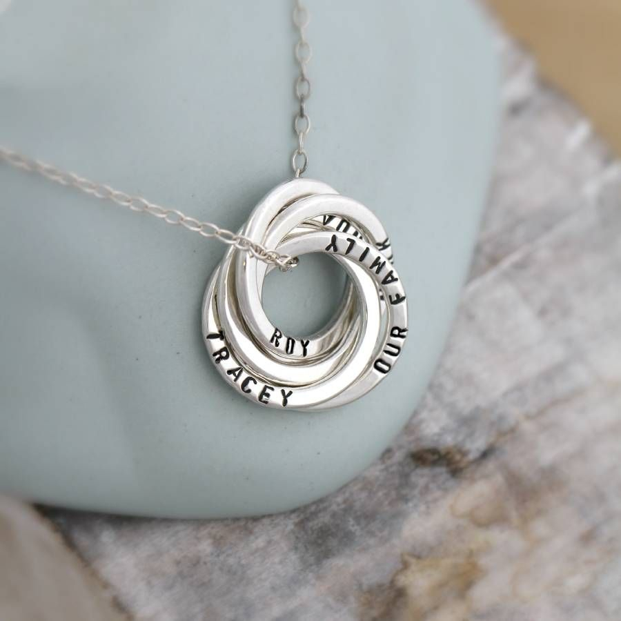 Personalised Russian Ring Necklace | My Style | Russian Ring, Ring With Most Recent Family Script Locket Element Necklaces (View 4 of 25)