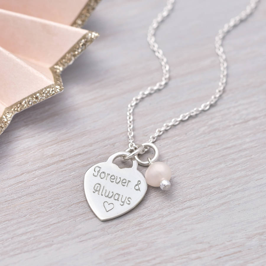 Personalised Sterling Silver Heart Charm Necklace With Regard To Best And Newest Joined Hearts Necklaces (View 18 of 25)