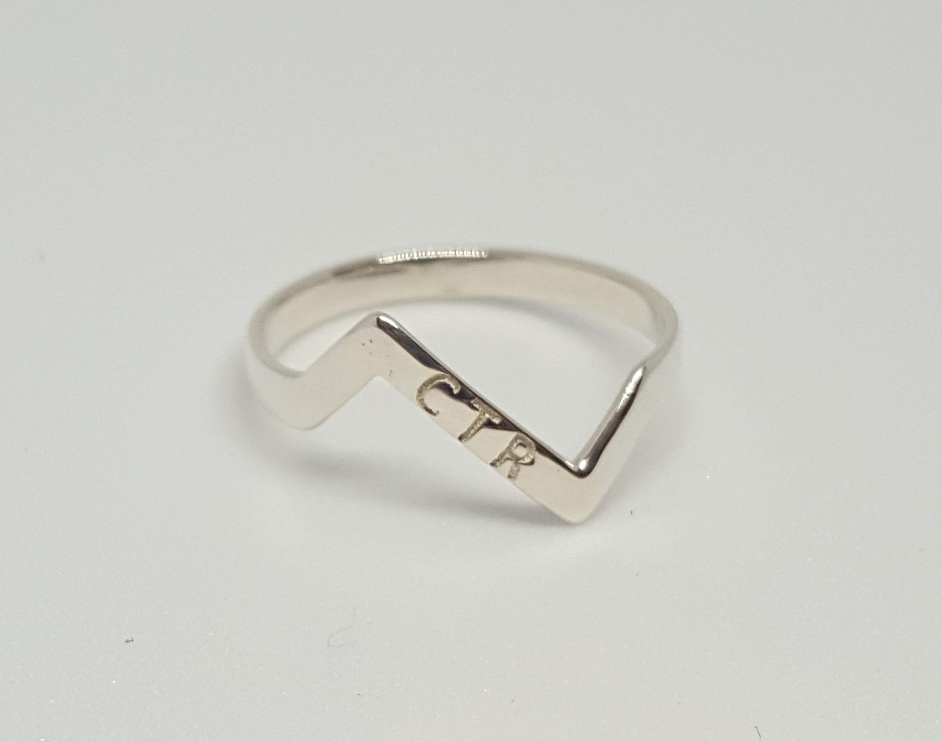 Personalized Zigzag Ctr Ring Inside Recent Polished Zigzag Rings (Gallery 4 of 25)