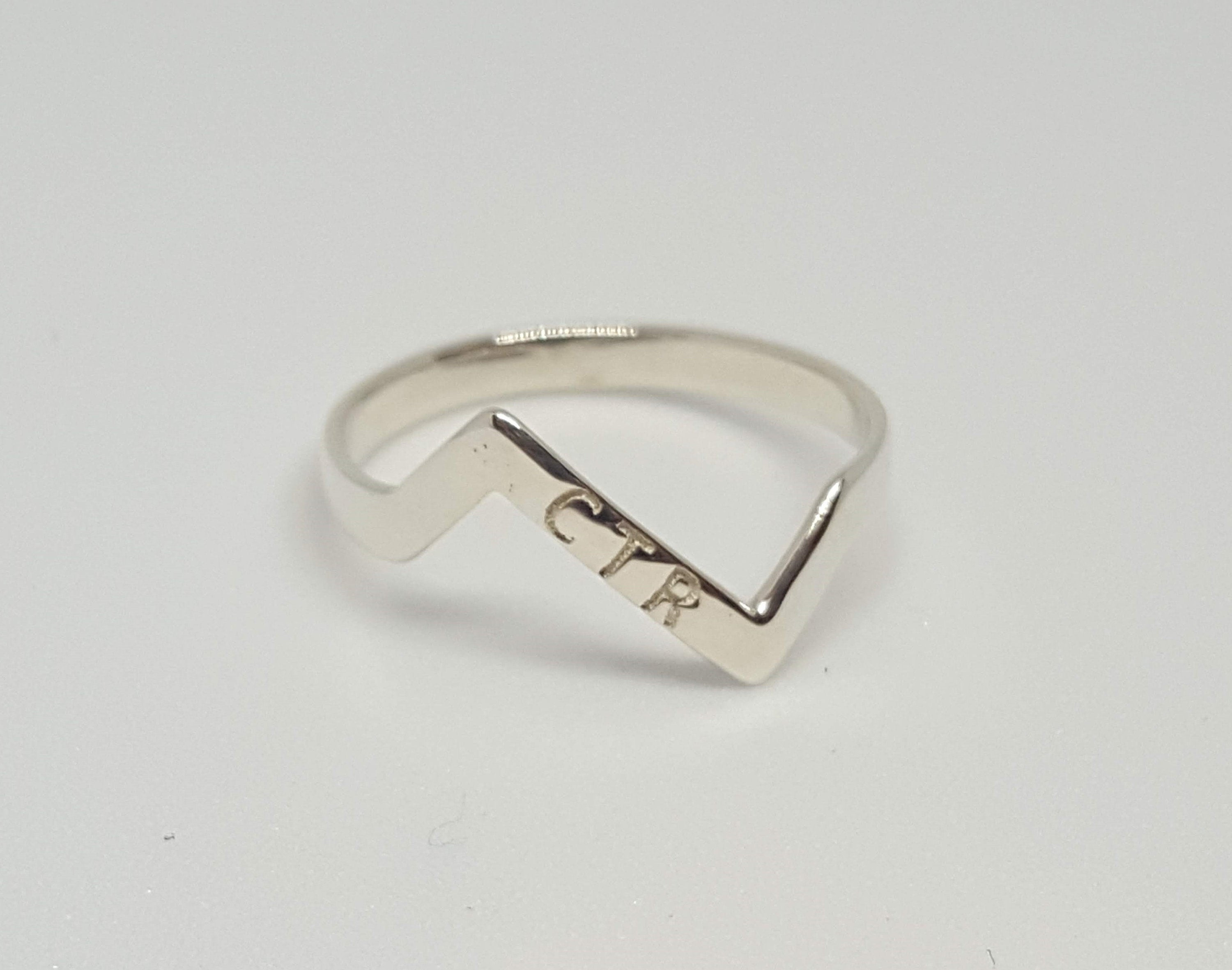 Personalized Zigzag Ctr Ring With Best And Newest Polished Zigzag Rings (Gallery 4 of 25)