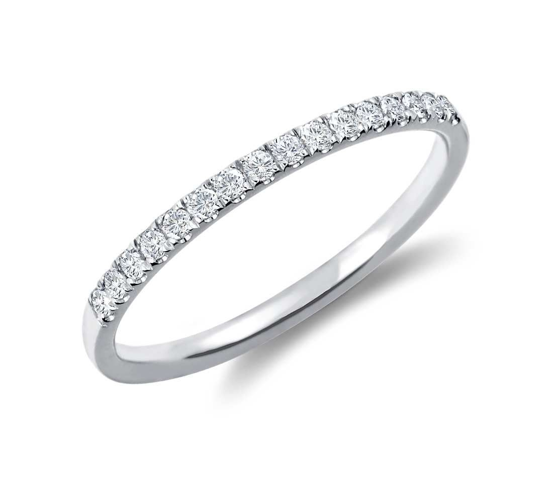 Petite Cathedral Pavé Diamond Ring In 14k White Gold (1/6 Ct (View 6 of 25)