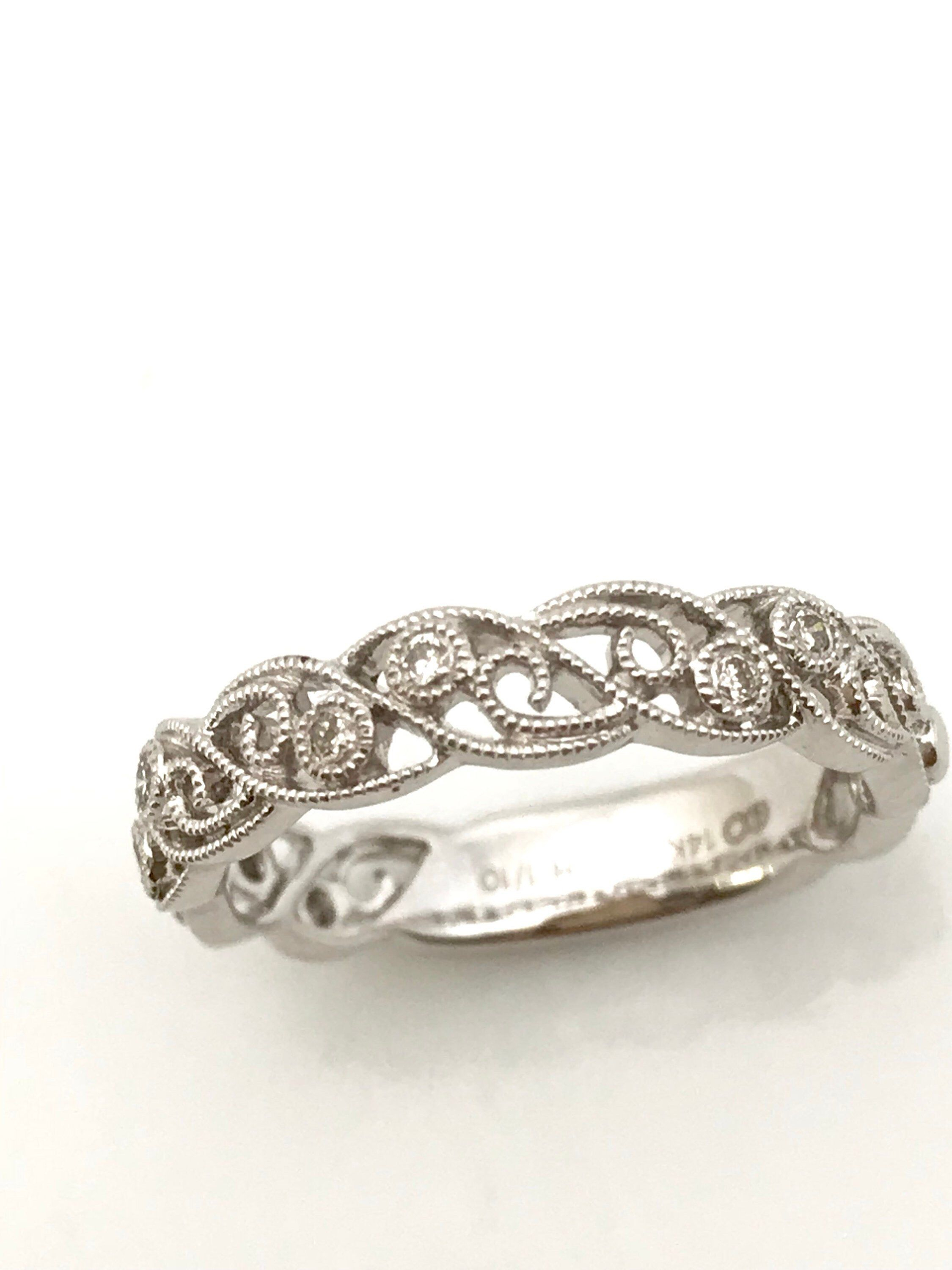 Pin On Advertising ~ This ~ That ~ Another ! For Recent Diamond Art Deco Inspired Anniversary Bands In White Gold (Gallery 17 of 25)