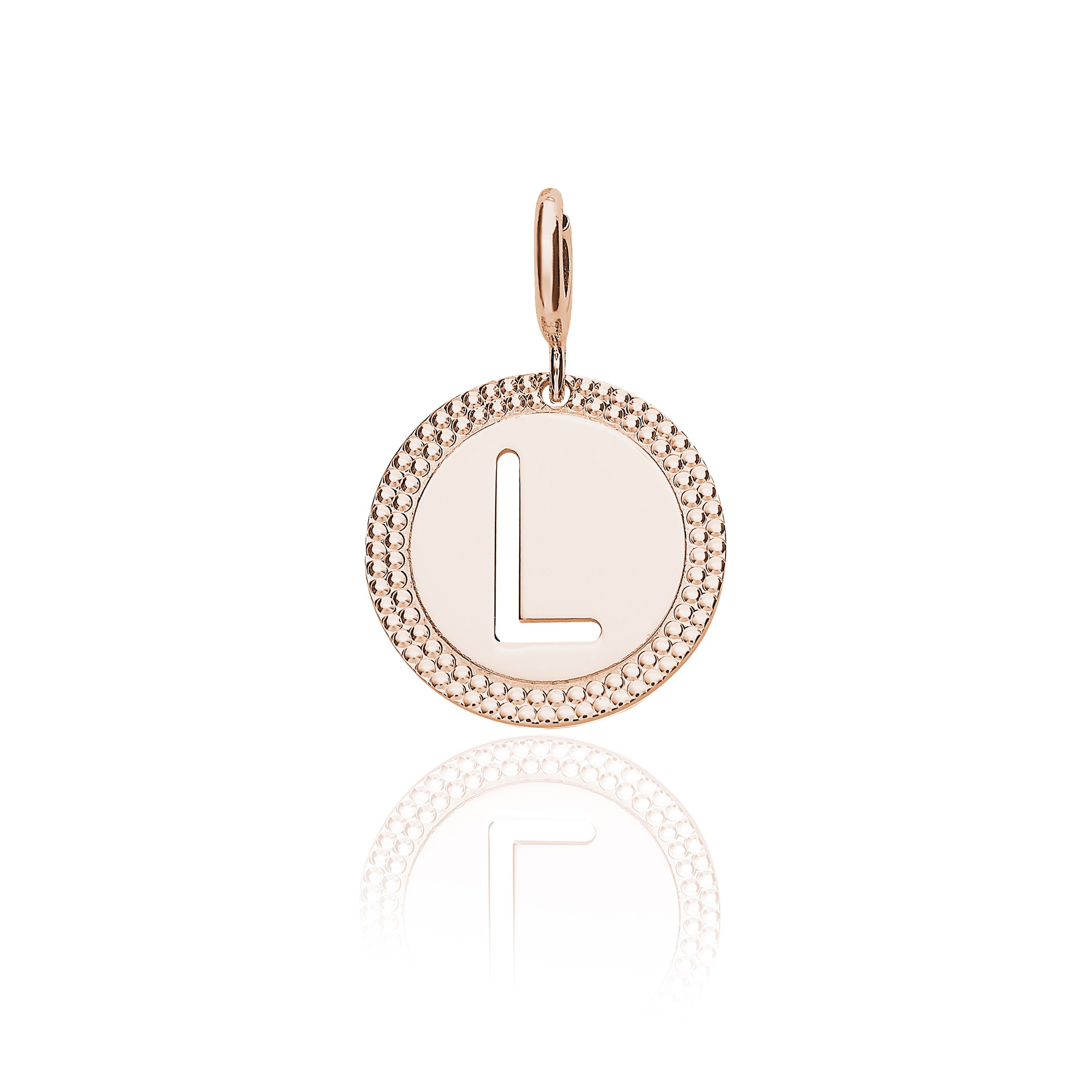 "Pink Gold Alphabet Pendant Letter ""l"" Within Current Letter L Alphabet Locket Element Necklaces (Gallery 1 of 25)"
