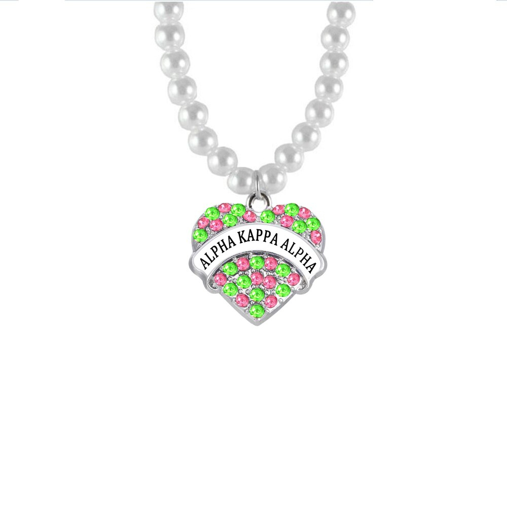 Pink Green Crystal Heart Charm Aka Pearl Necklace Mix Color Crystal Within Most Up To Date Ice Crystal Heart Collier Necklaces (View 14 of 25)